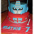 Gâteau transformers Optimus Prime 3D
