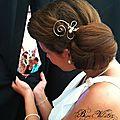 Accessoire de coiffure <b>mariage</b> original, en fil plaqué argent