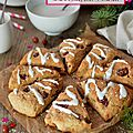 Scones {Cranberries, coco & <b>orange</b>} #Noël vegan