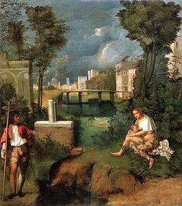 Giorgione la tempête