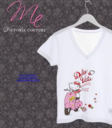 faire soi meme son t shirt hello kitty chez victoria couture. Black Bedroom Furniture Sets. Home Design Ideas