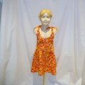 Robe Eté <b>Fille</b> 5-6 ans Paisley's Orange et Rose