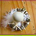 Déco de Pâques, idée n°1: Des <b>marque</b>-<b>places</b> inspirés de nids d'oiseaux!