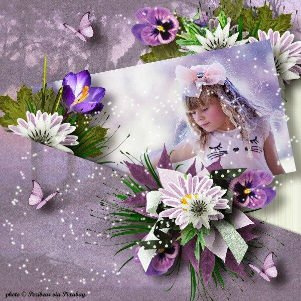 Flomelle - fairy's world - page de Cristiana - template de Ilonka - photo Pixabay
