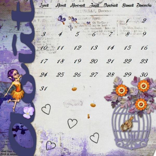 kittyscrap_purple_summer -template Flomelle calendrier août 2015