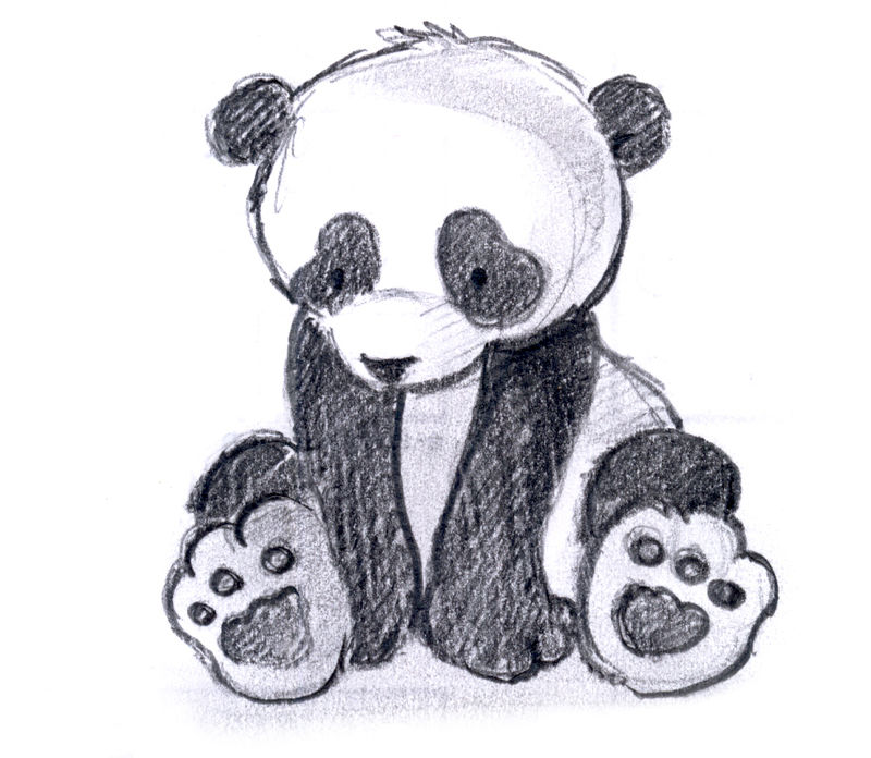 Photo De Panda Facile A Dessiner