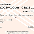 Je couds ma garde-robe capsule 2017