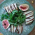 Rouleaux d'aubergine, courgette, jambon cru