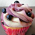 <b>Cupcakes</b> aux myrtilles