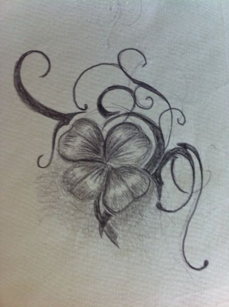 Trefle a tattoos pictures to pin on pinterest tattooskid - Trefle 4 feuilles tatouage ...