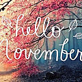 ** <b>To</b> Be Read In November **