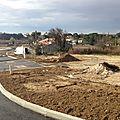 FAUBOURGS DE LA LEGUE: les constructions sortent de terre