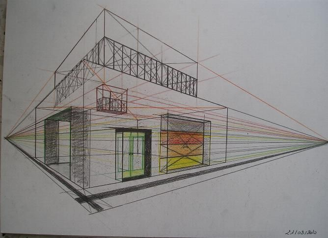 Emejing Chambre En Perspective Point De Fuite Gallery - ansomone.us ...