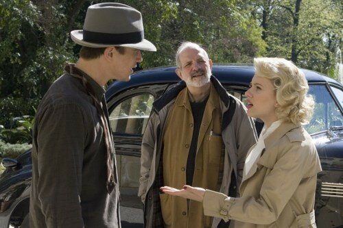 JOSH HARTNETT, le réalisateur BRIAN DE PALMA (au centre) & SCARLETT JOHANSSON