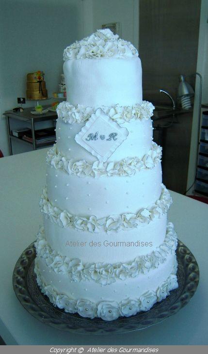mariage, blanc et argenté...déco en pâte à sucre - Blogs de ...