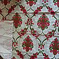 2001 <b>Ancien</b> coupon <b>tissu</b> vintage ameublement motif <b>ancien</b> losanges