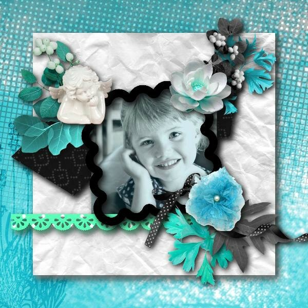 template 34 - kit desclics turquoise world - photo cocotounette