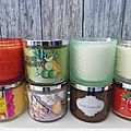 Haul bougies <b>Bath</b> & Body Works et Yankee Candle