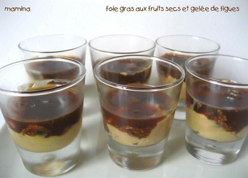 foie gras aux fruits secs