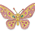 An exclusive coloured diamond brooch, by Carvin <b>French</b>