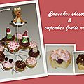 <b>Cupcakes</b> de Noël chocolat et fruits rouges