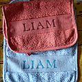 2 nouveaux bavoirs pour Liam