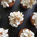 Cupcakes noisette / nutella glacage chantilly