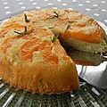 Gâteau renversé aux abricots et au romarin, sans gluten ni lactose