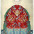 Anonymous, Memorial Portrait of Madame Li, Wife of Kong Chuanduo, 68th-<b>generation</b> Duke for Perpetuating the Sage, Qing dynasty