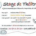 Des ateliers pendant l'été : théâtre et <b>musique</b>