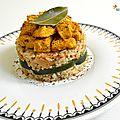Risotto au riz complet & amarante aux courgettes, girolles & poulet à la moutarde