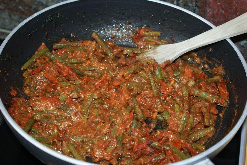 recettes Haricots vert à la sauce tomate