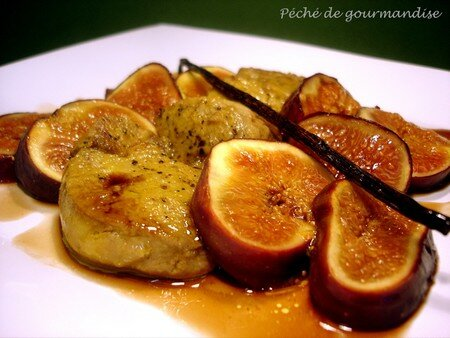 Escalopes de foie gras aux figues