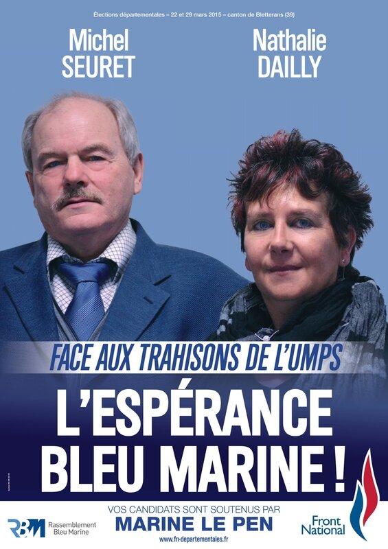 Bletterans Michel Seuret et Nathalie Dailly