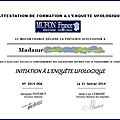 <b>OVNI</b> : REMISE DES PREMIERES ATTESTATIONS D'ENQUETEURS AU MUFON FRANCE