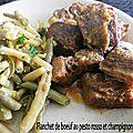 Flanchet de <b>boeuf</b> au pesto rosso et champignons (Cookeo)