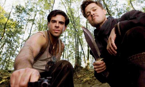 Eli Roth et Brad Pitt