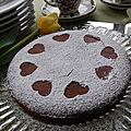 Gâteau au chocolat et à la <b>farine</b> de <b>noix</b> de <b>coco</b>, sans gluten et sans lactose