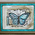 Inspiration article technique (Tim Holtz Blueprint)