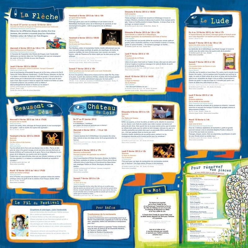 affiche programme bd