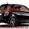 Fiat 500, fiat 500, fiat 500 <b>covering</b> noir <b>mat</b>