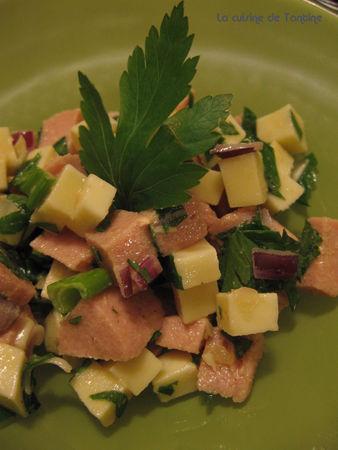 recettes entrees  Salade de cervelas
