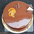 Entremet chocolat, <b>orange</b>