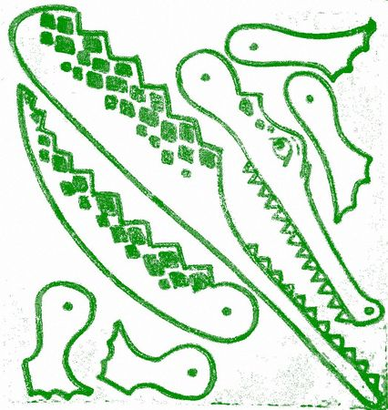 CROCODILE_fernand_NATHAN_PANTIN_tampon_ecole_vintage_scolaire_stempel_stamp_schule_school