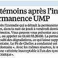 Incendie de l'ancienne permanence de l' UMP : Appel à témoins