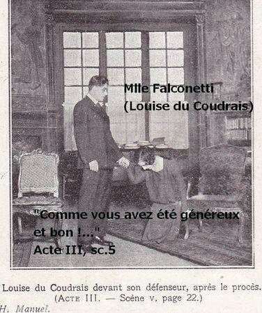 Mlle Falconetti et Louis Gauthier La Pte Illust