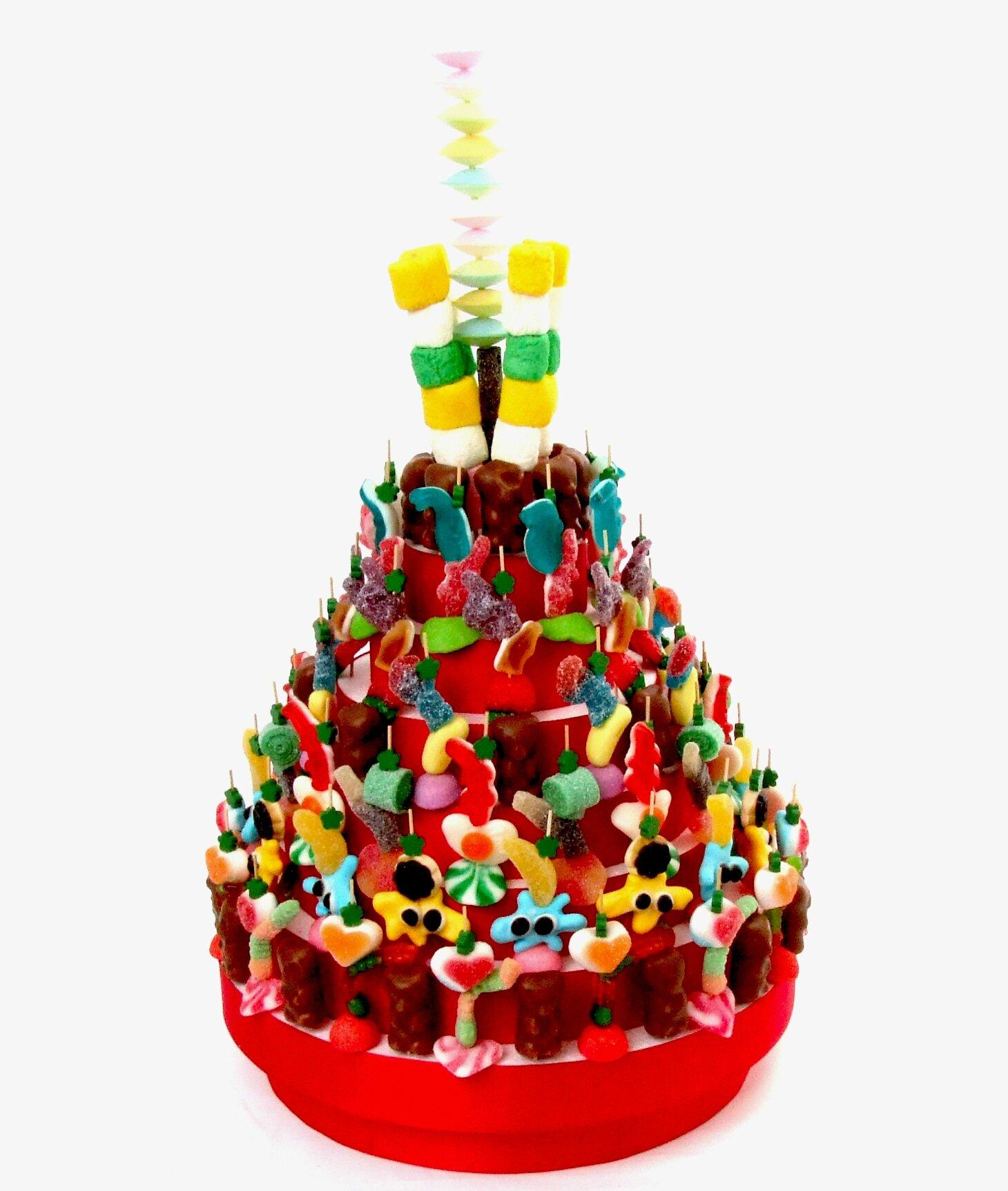 Gâteaux de bonbons. Compositions de bonbons