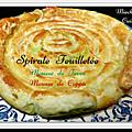 <b>Spirale</b> à la mousse de fèves et mousse de coppa