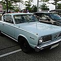 Plymouth <b>Barracuda</b> hardtop coupe, 1966