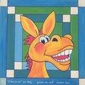 Pas à pas pour peindre un Âne <b>humoristique</b> sur isorel par Domi